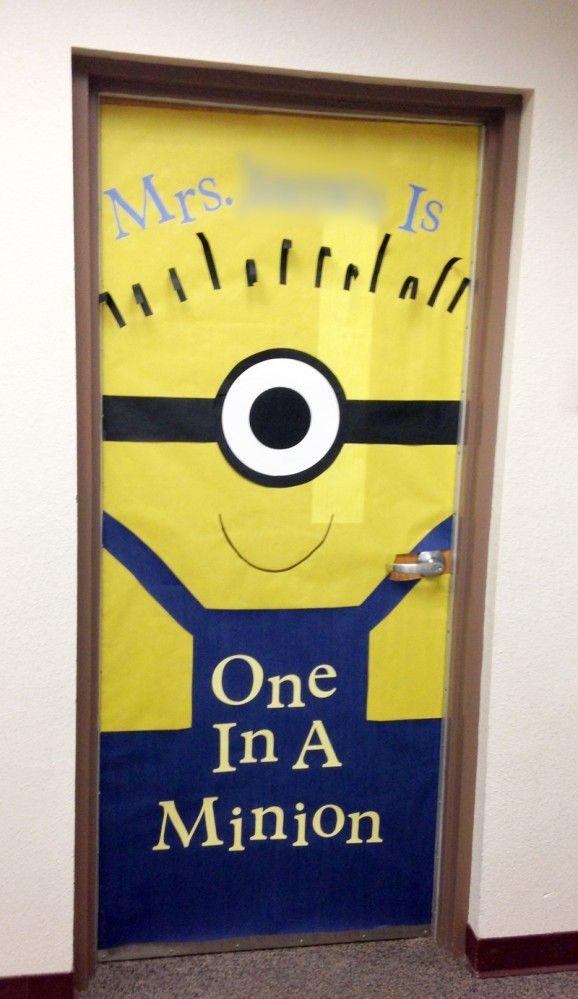 one in a minion teacher door