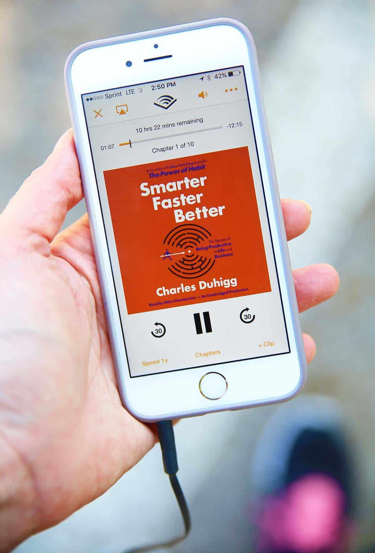 smarter faster better on Audible
