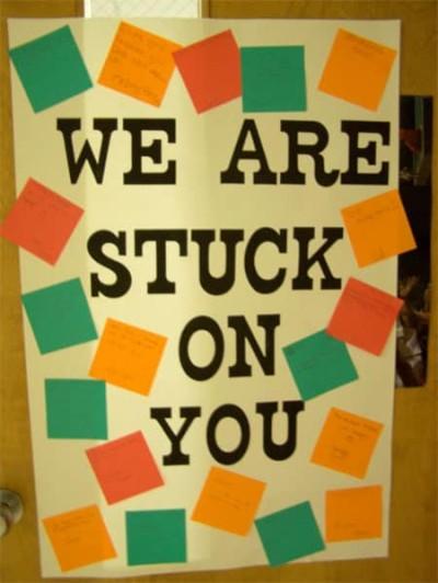 stuck on you teacher door