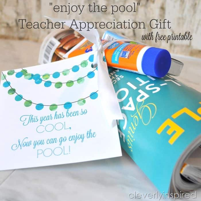 Quot Enjoy The Pool Quot Teacher Appreciation Gift Free Printable