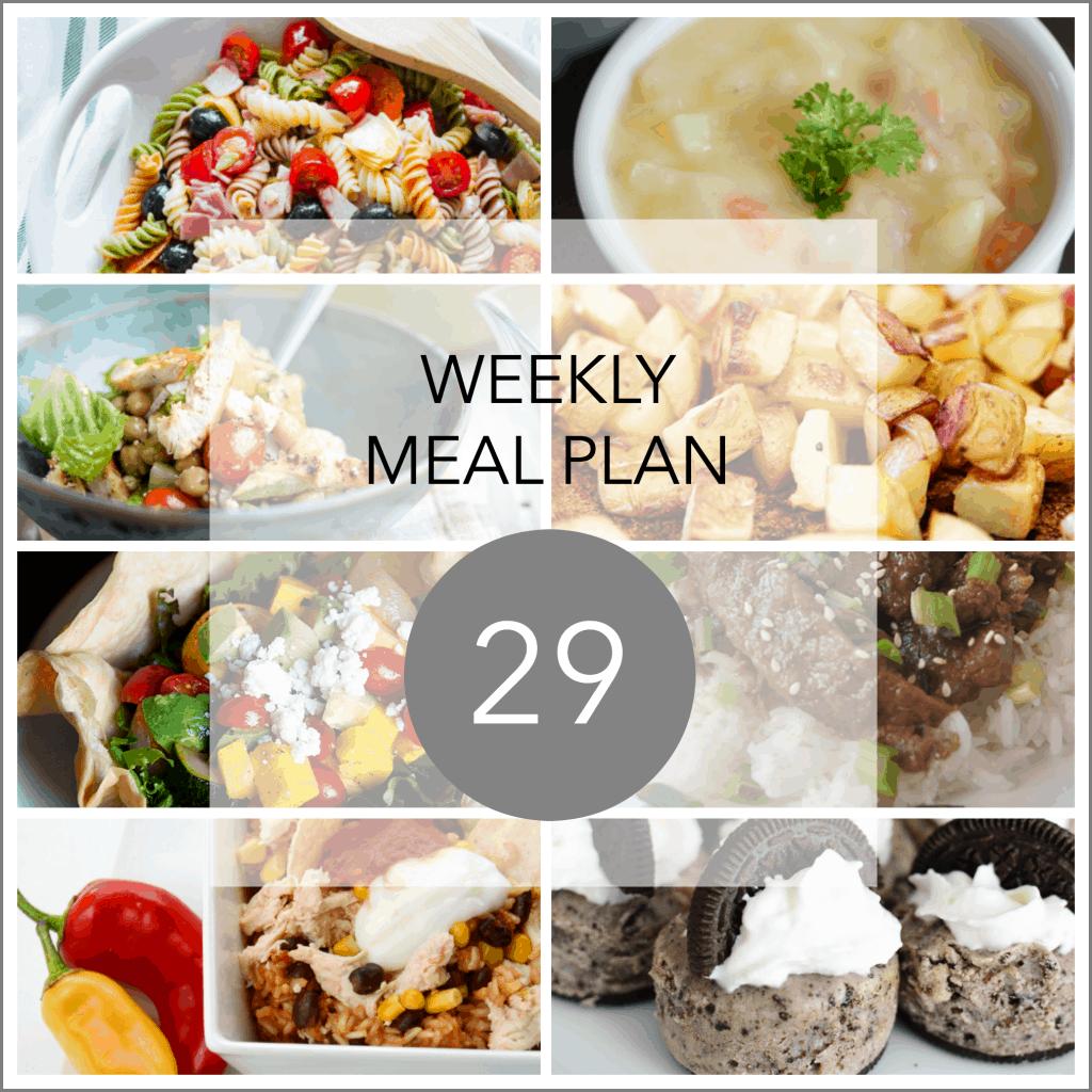 weekly meal plan FB 29