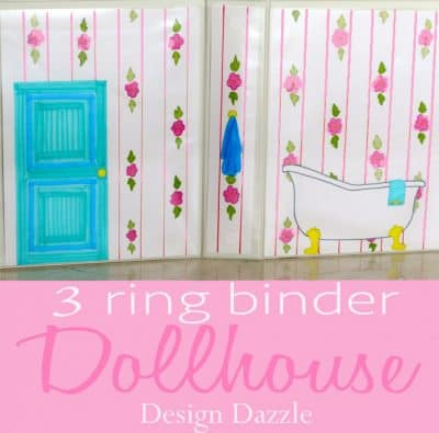 Free printables - 3 ring binder dollhouse | Design Dazzle