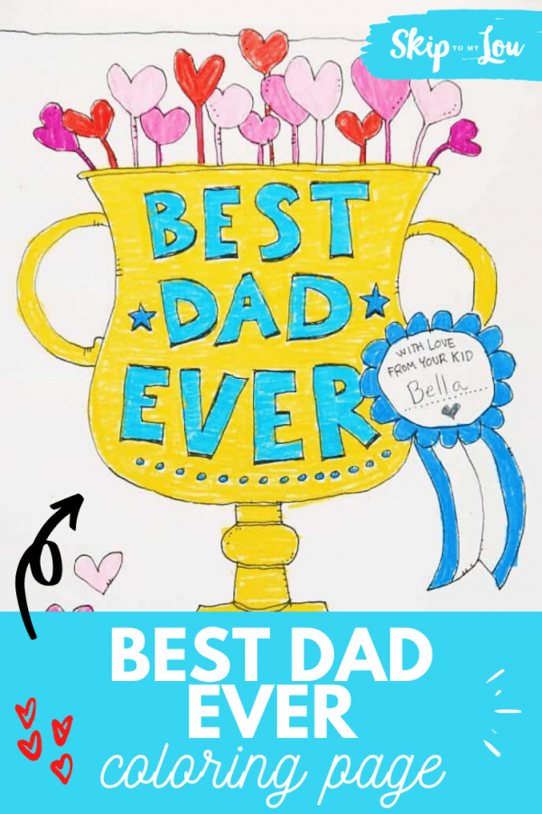 BEST Dad EVER Coloring Page PIN