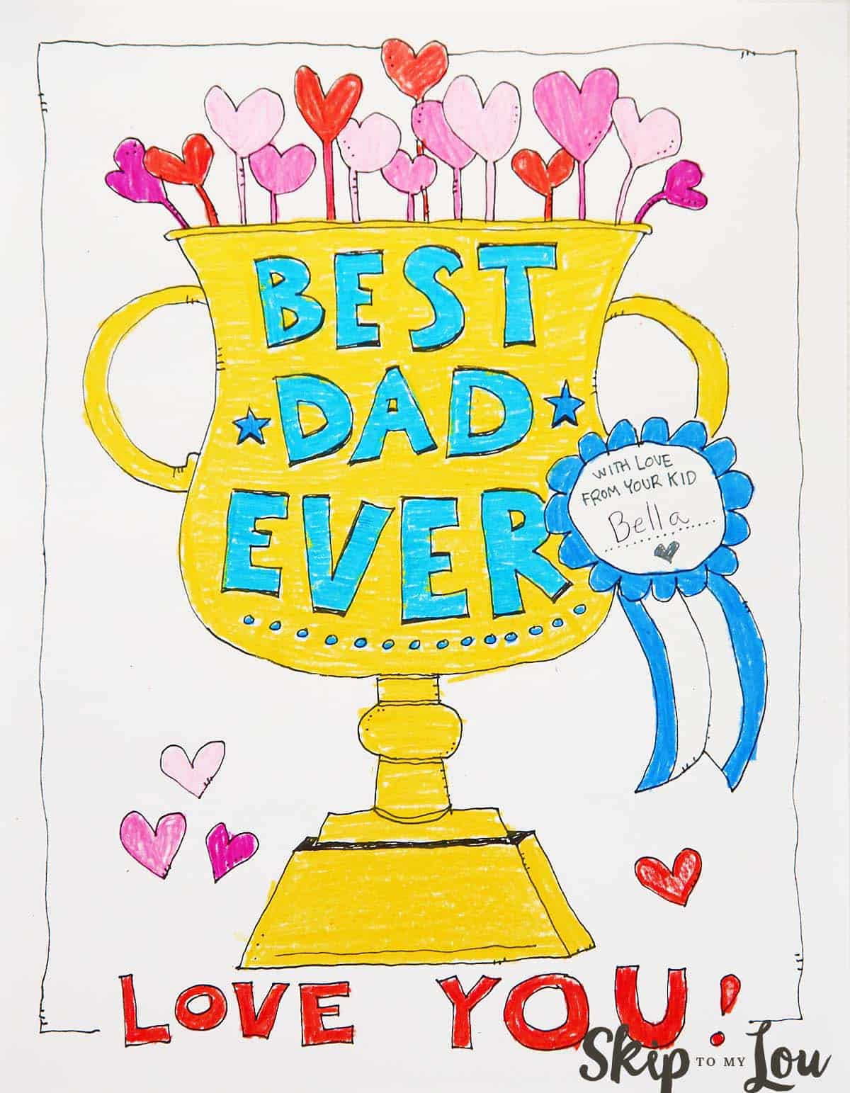 Coloring page for Dad