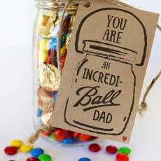Fathers day gift tag incredi-ball