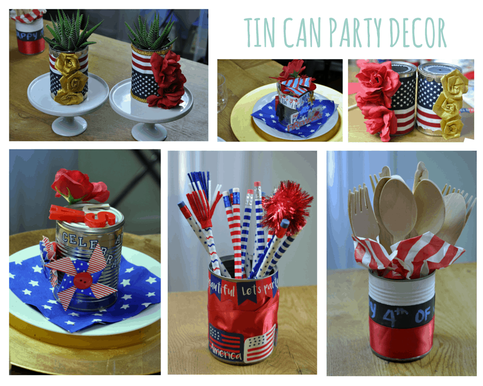 TIN CAN PARTY DECOR