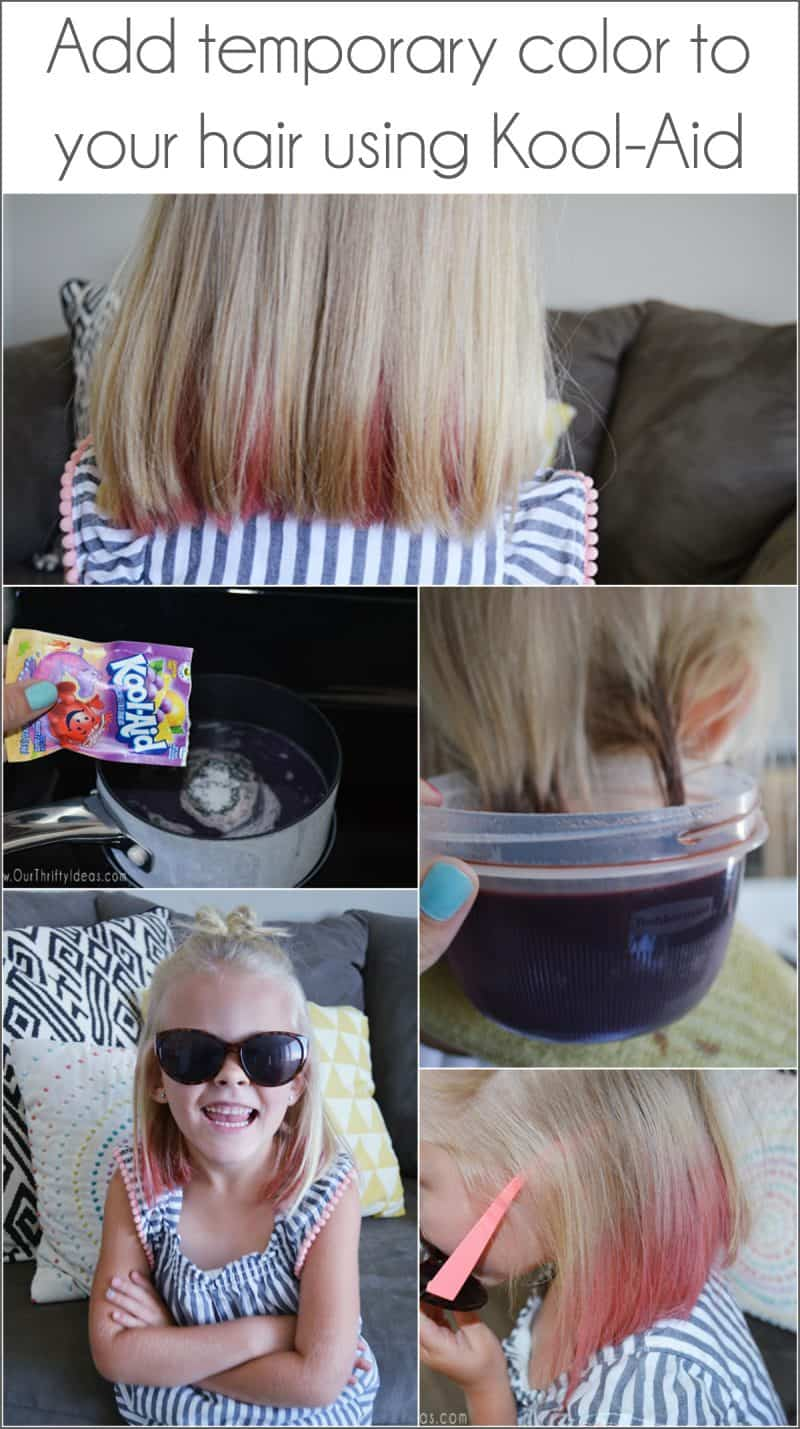 How to dye your hair with kool aid an easy way to add fun color to add temporary hair color to your hair using kool aid geenschuldenfo Image collections