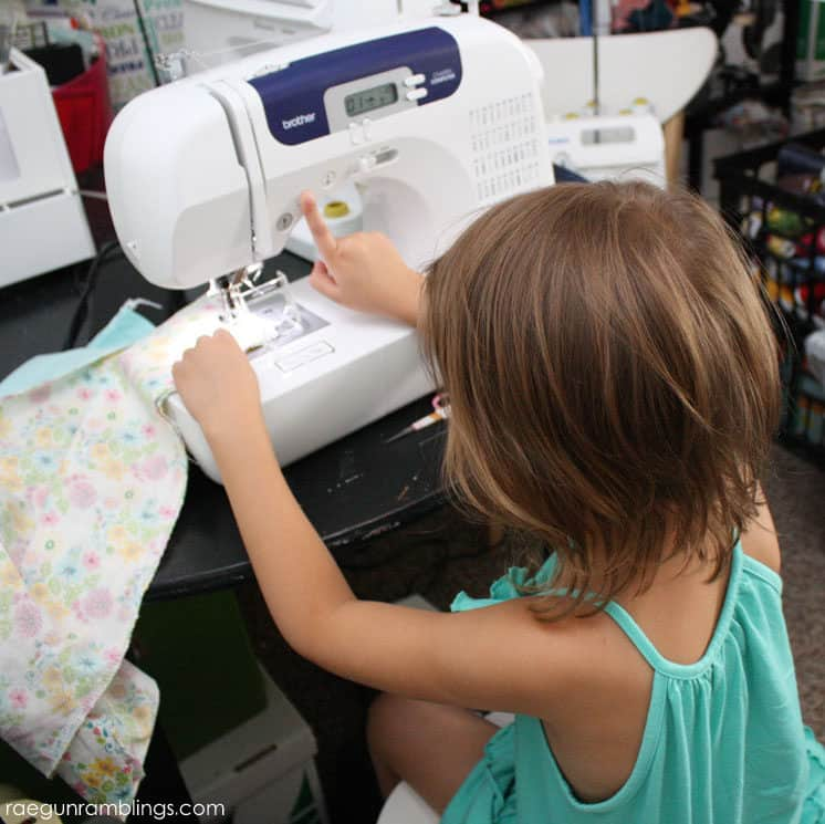 Teach kids to sew with this super easy skirt tutorial