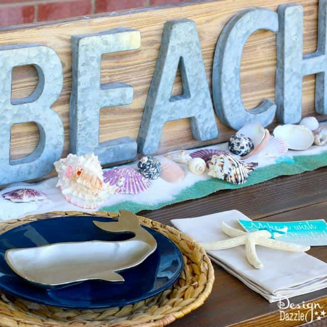 Beach Tablescape by Toni from Design Dazzle