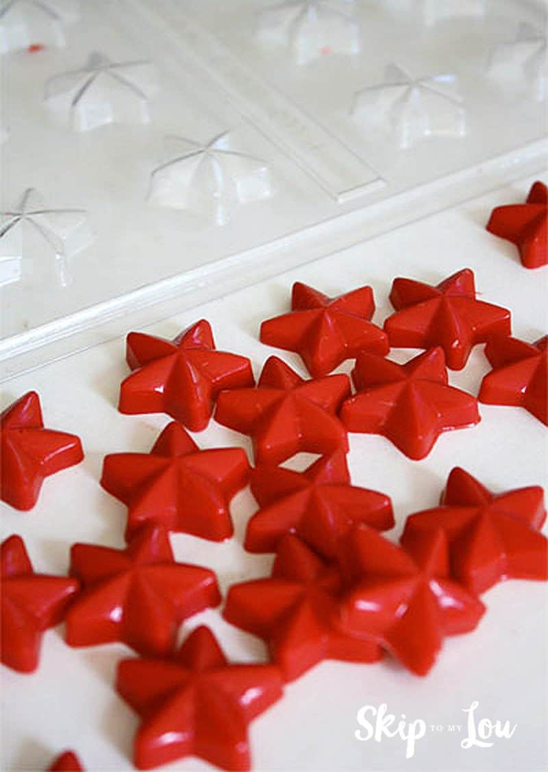 candy star cupcake toppers