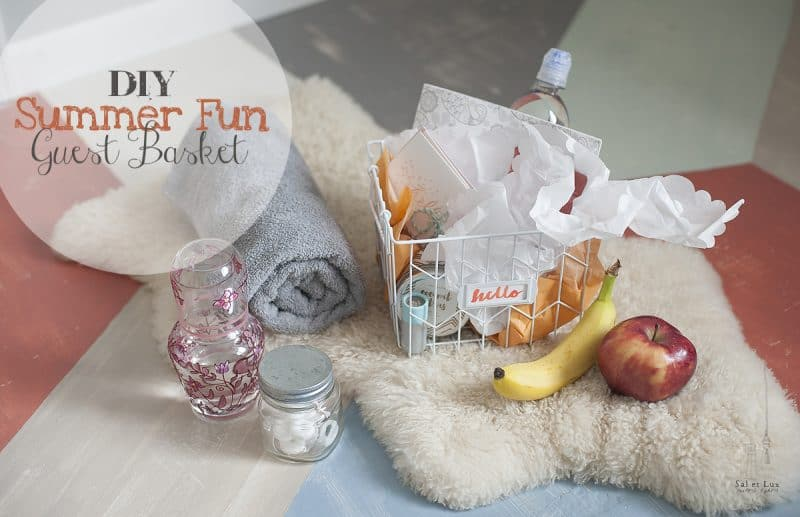 diy summer fun guest basket