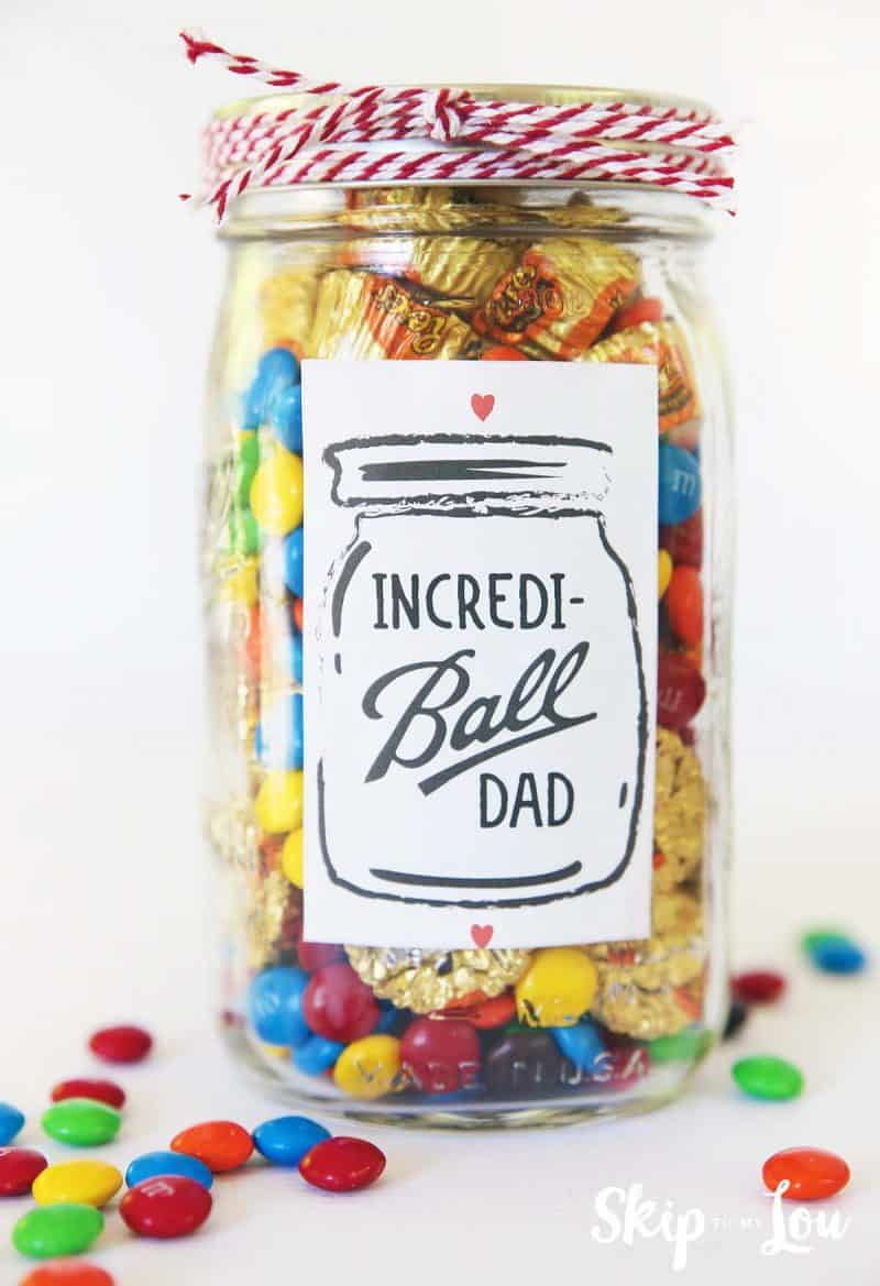 fathers day gift label incredi-ball dad