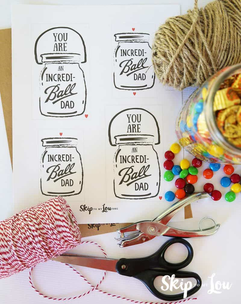 incredi-ball dad printable tags