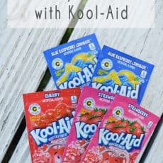 add temporary hair color to your hair using kool-aid