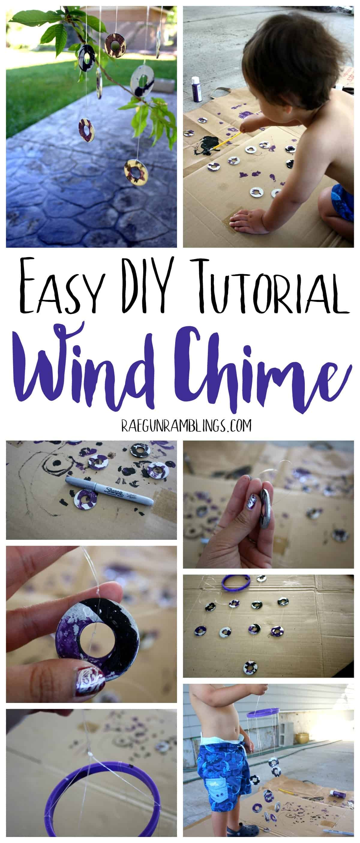 How fun DIY wind chimes perfect activity to do with the kids.
