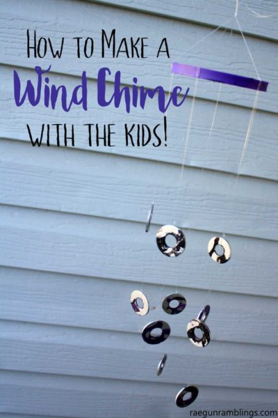 Easy kids craft idea. DIY wind chime full instructions great for toddlers to tweens.