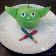 Yoda Apple snack