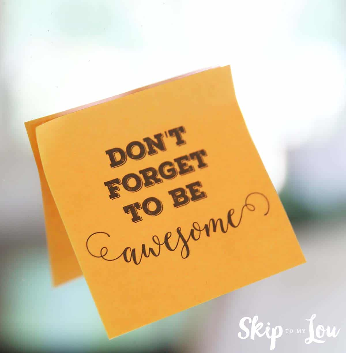 Printable Custom Post It 174 Notes Reminders Skip To My Lou