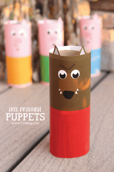 wolf toilet paper puppet