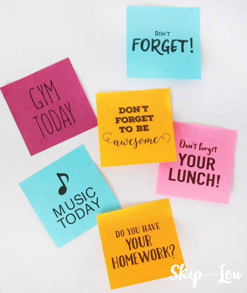 custom post-it notes reminders