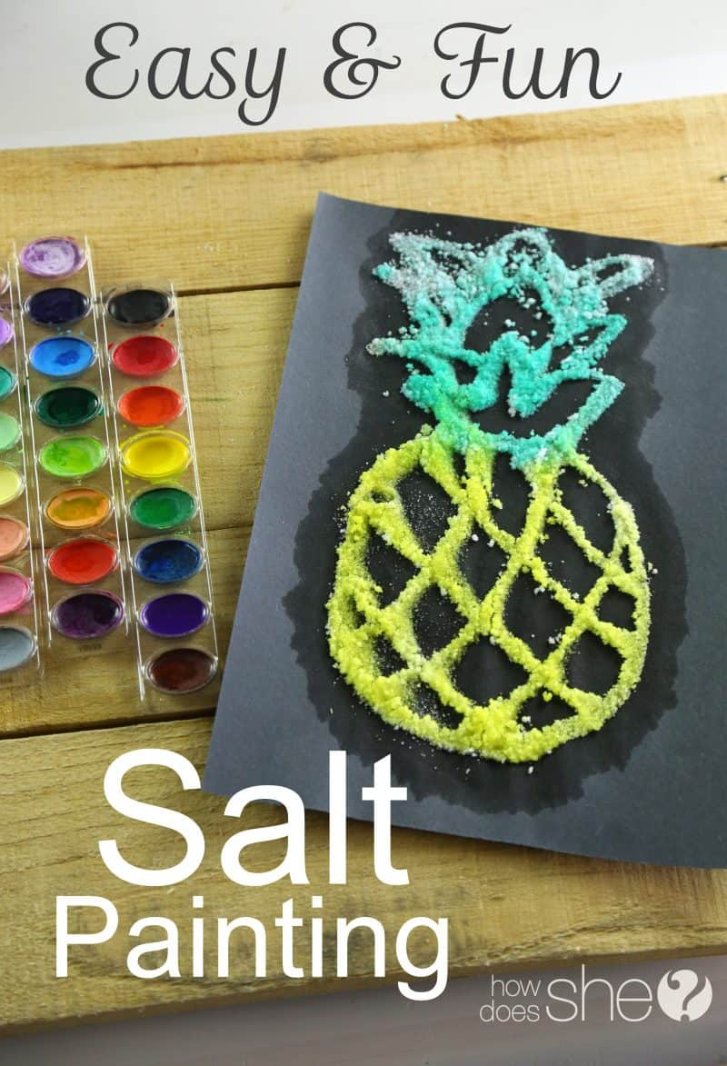 pineapple salt painting