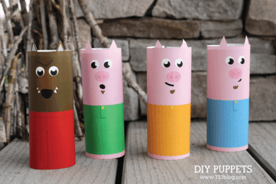 DIY Toilet Paper Roll Puppets
