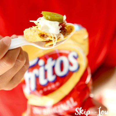 walking taco in fritos bag