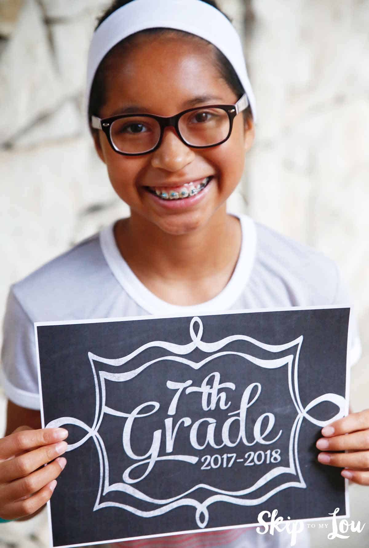 2017 Back to School Signs for Pictures