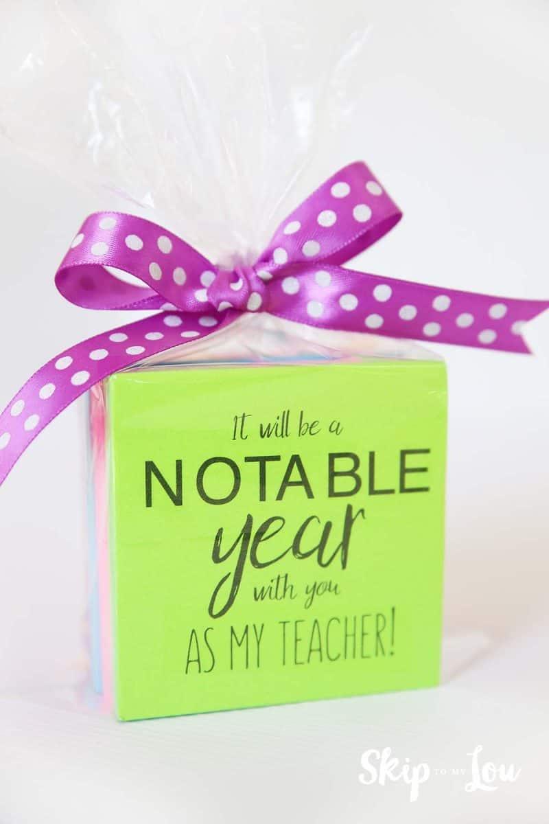post it note back to school teacher gift
