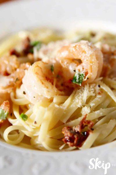 Creamy Cajun Shrimp Pasta