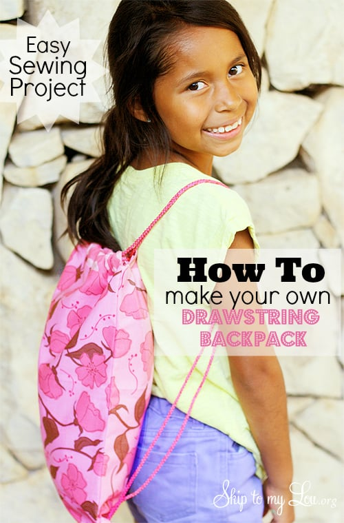 Drawstring Backpack {Sewing Tutorial}