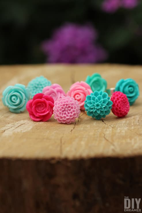 Easy-to-Make-Rings-DIY-Flower-Cabochon-Rings