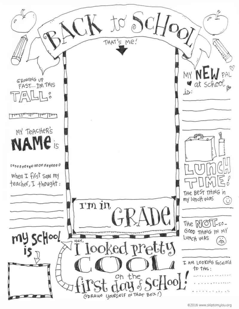 Teacher Favorite Things Questionnaire Printable – First Day of School Worksheet