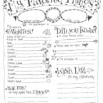 teacher favorite things questionnaire printable