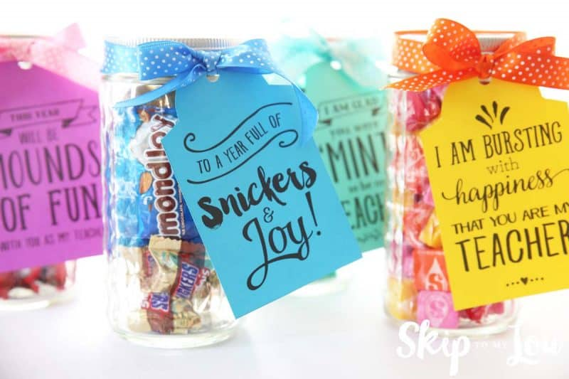 back to school candy puns gift tags