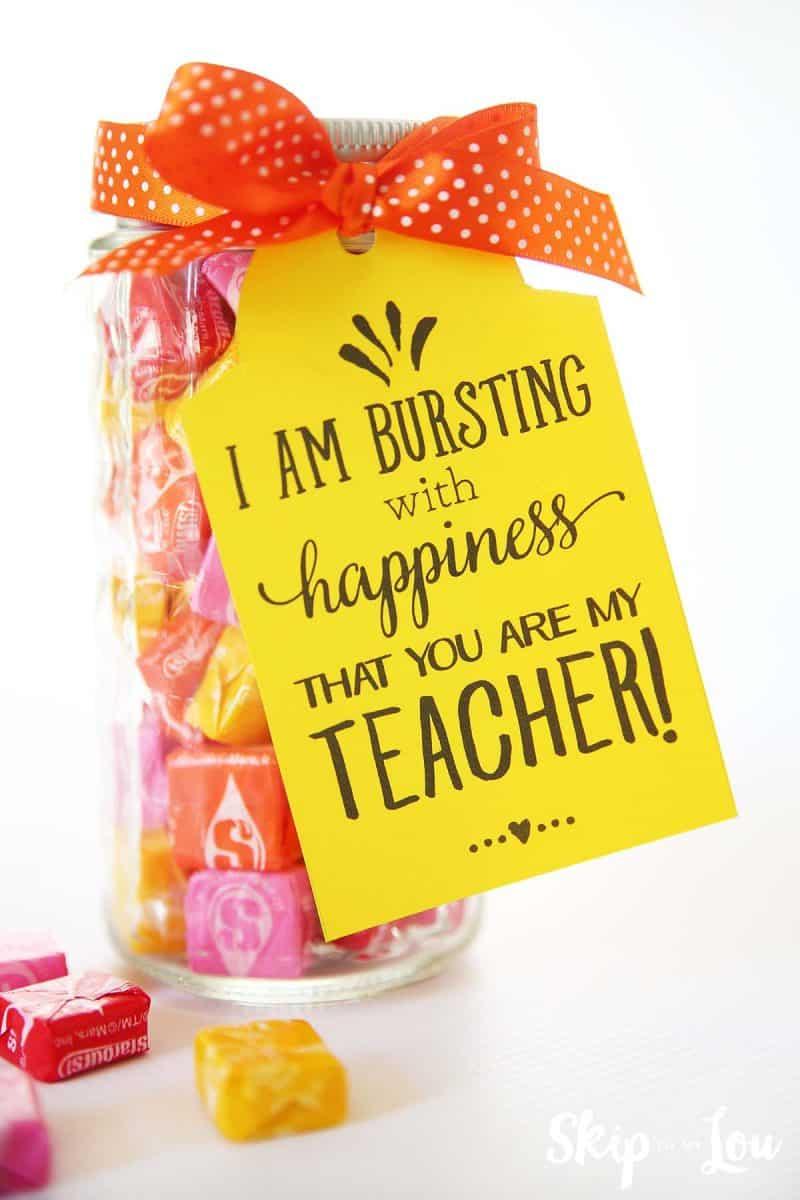 back to school teacher starburst gift idea