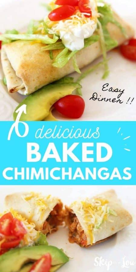 baked chimichangas recipe PIN