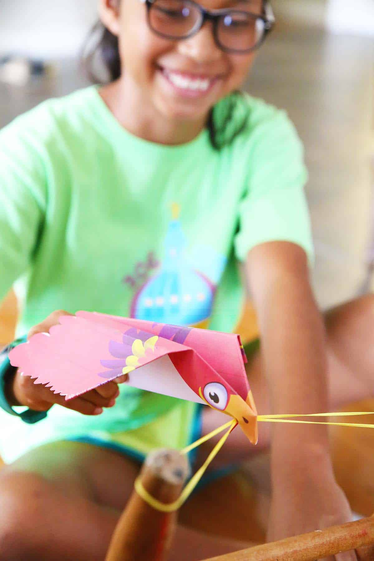 Printable Flying Paper Bird Skip To My Lou