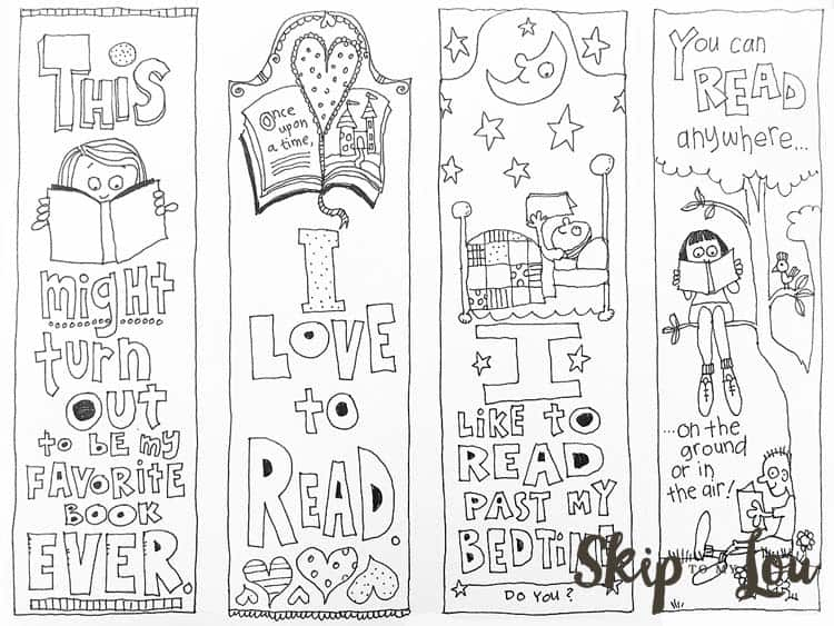 free coloring bookmarks skip to my lou. Black Bedroom Furniture Sets. Home Design Ideas