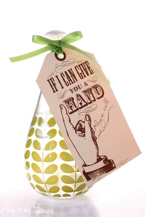 free printable if I can lend a hand gift tags