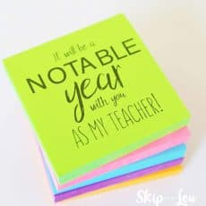 notable year teacher gift post it notes