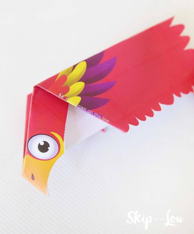 paper airplane bird