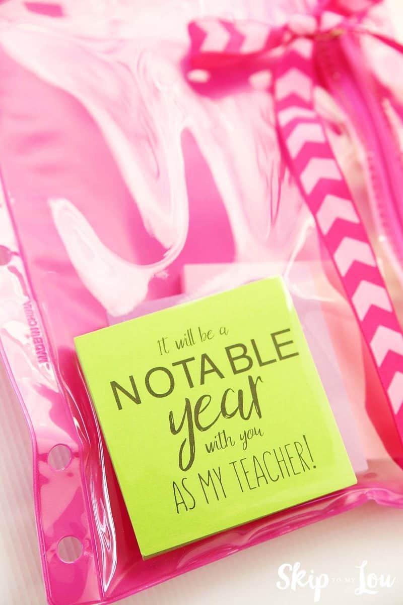 printable sticky note teacher gift