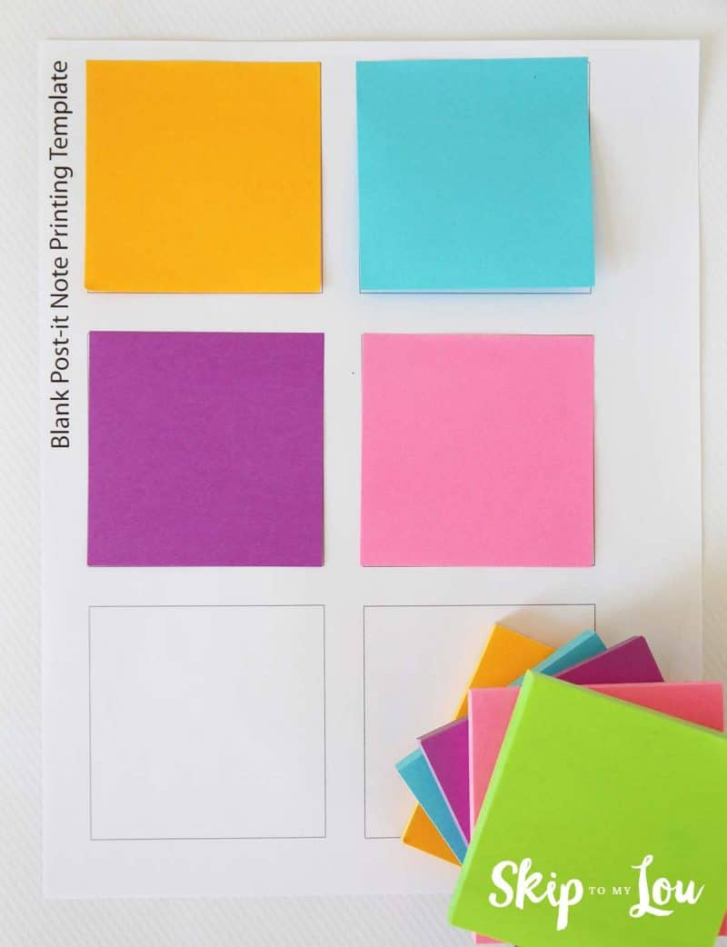 printing on post it notes