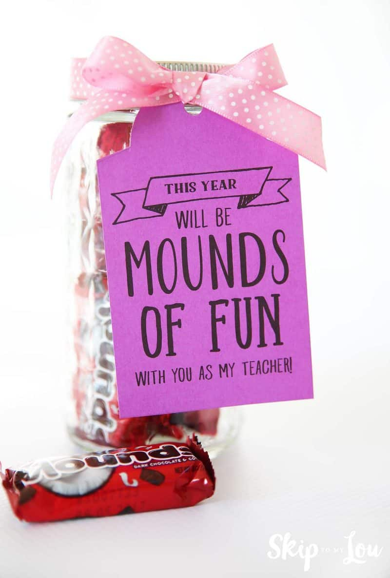 this year will be mounds of fun teacher gift tag