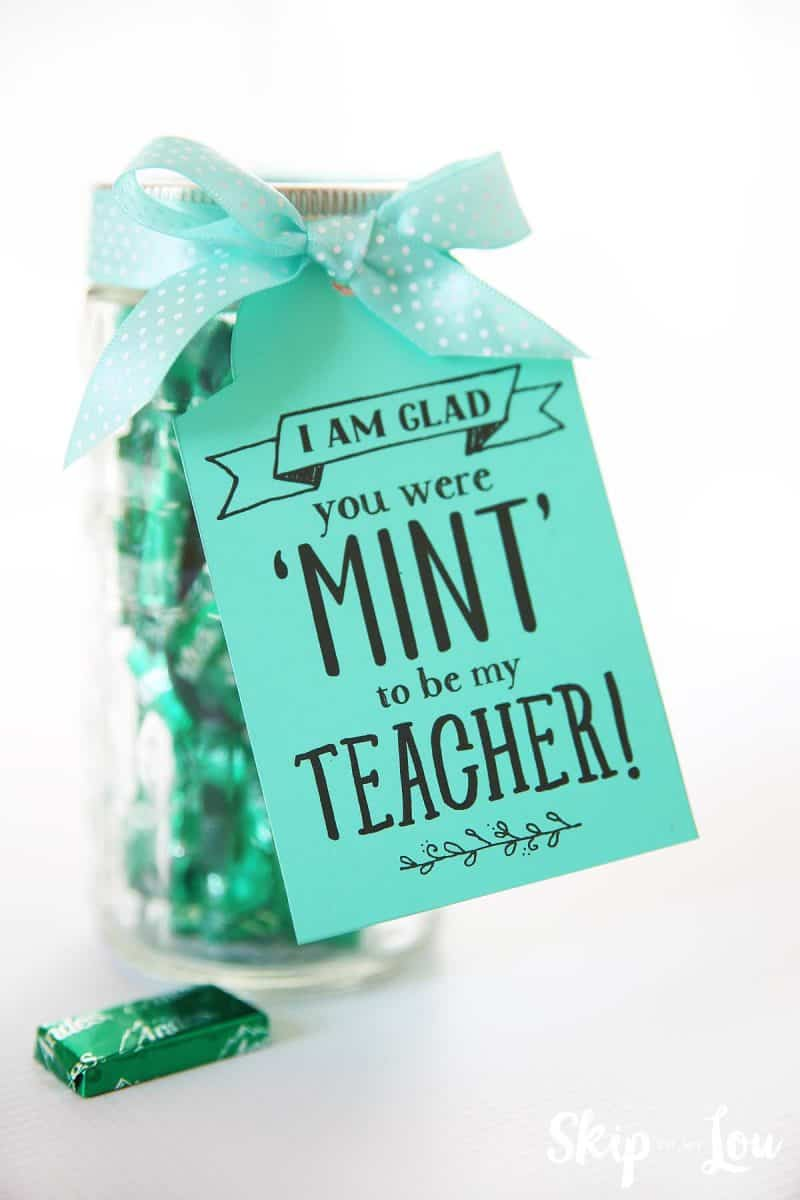 you were mint to be my teacher gift tag