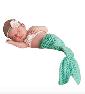 mermaid newborn costume