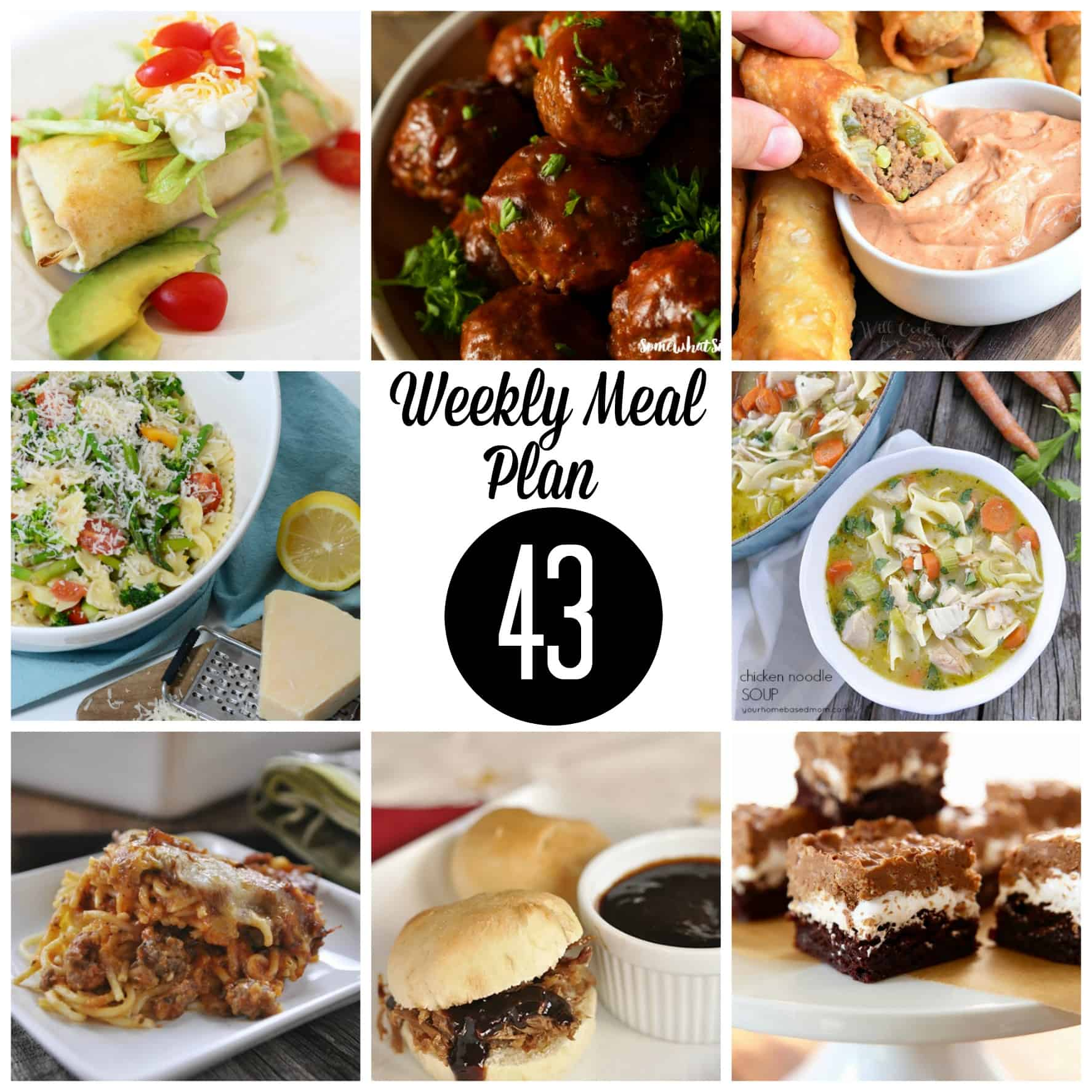 Weekly meal plan 43 square