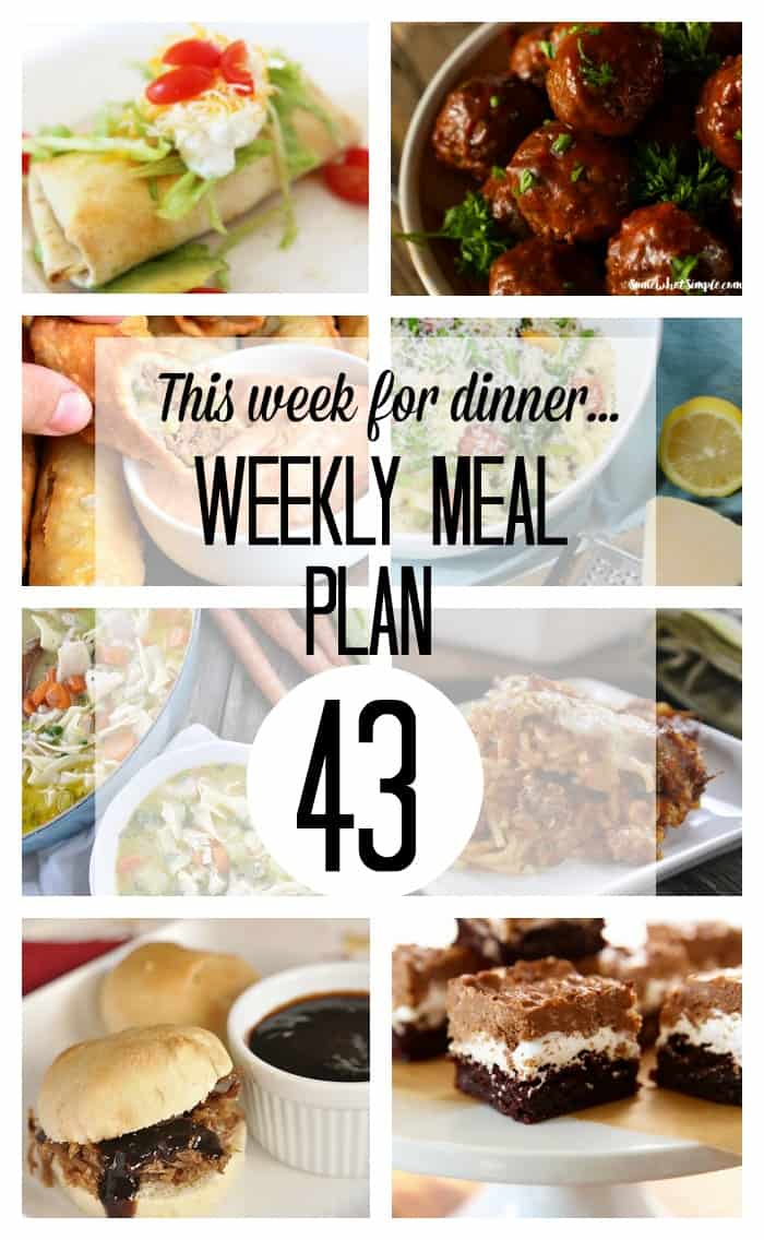 Weekly Meal Plan - Week 43