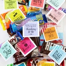 candy grams gift tags